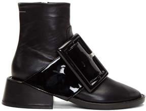 Maison Margiela Black Oversized Buckle Boots
