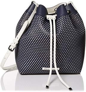 Armani Exchange A X Medium Perforated Bucket Bag