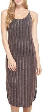 Everly Metallic Slip Dress