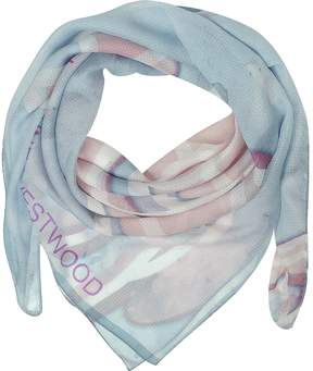 Vivienne Westwood Light Blue & Pink Foul Flash Orbs Print Silk Wrap