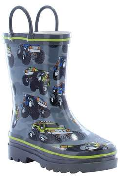 Western Chief Toddler Boy Monster Crusher Rain Boot Charcoal