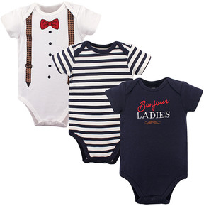 Hudson Baby Navy Tuxedo Three-Piece Bodysuit Set - Infant