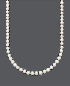 Belle de Mer Aa+ 22 Cultured Freshwater Pearl Strand Necklace (8-1/2-9-1/2-10mm) in 14k Gold