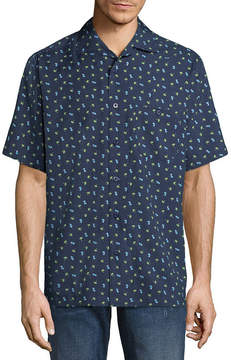 Haggar Short Sleeve Button-Front Shirt-Big and Tall