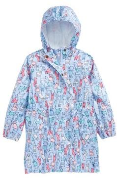 Joules Toddler Girl's Print Packaway Rain Coat