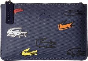 Lacoste - L.12.12 Concept Croc Medium Clutch Clutch Handbags