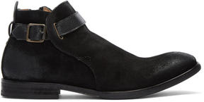 H By Hudson Black Suede Hank Boots