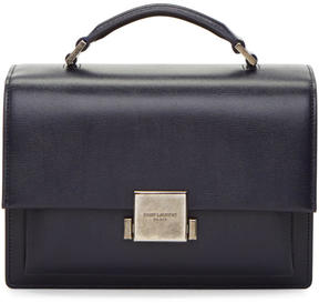 Saint Laurent Navy Bellechasse School Satchel - NAVY - STYLE