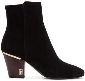 Marc Jacobs Black Suede Aria Status Boots