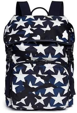 Valentino 'Camustars' print nylon backpack