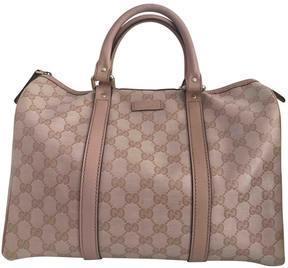 Gucci GG cloth bowling bag - PINK - STYLE