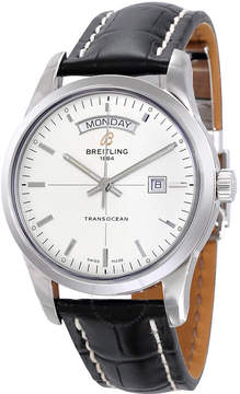 Breitling Transocean Day & Date Silver Dial Automatic Men's Watch