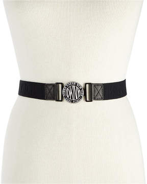 DKNY Logo-Buckle Webbed Stretch Belt, Created for Macy's