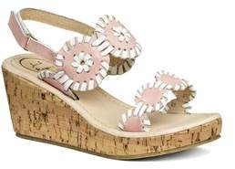 Jack Rogers Girls' Miss Luccia Leather Sandal.