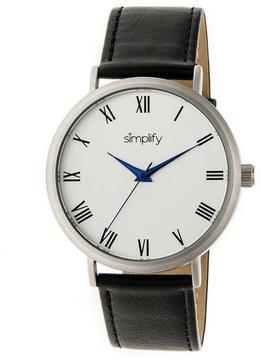 Simplify The 2900 Collection SIM2901 Unisex Watch with Leather Strap