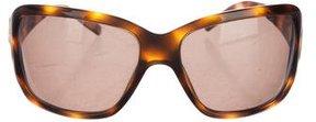 Bvlgari Tortoiseshell Rectangular Sunglasses