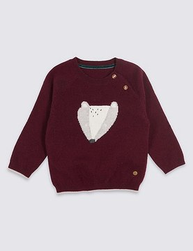 Marks and Spencer Intarsia Jumper with Cashmere
