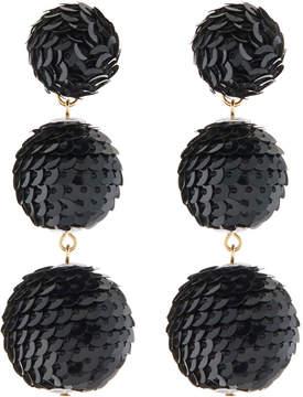 Kenneth Jay Lane Wrapped Sequin Drop Earrings, Black