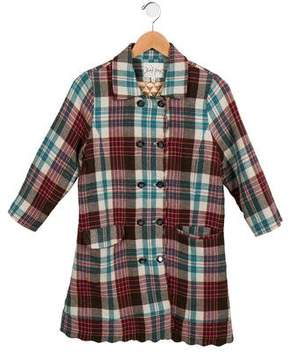 Rachel Riley Girls' Plaid Wool Coat