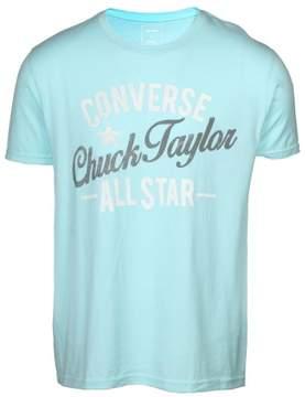 Converse Men's All Star Vertical Script Chuck Taylor T-Shirt-Blue-Small
