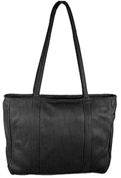 Women's David King Leather 574 Multi Pocket Shopping Bag