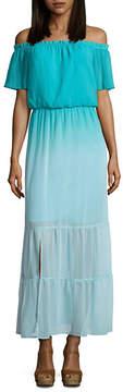 BELLE + SKY Off The Shoulder Tier Maxi Dress