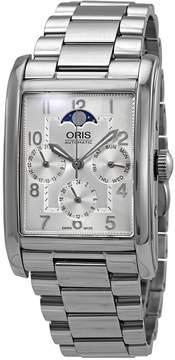 Oris Rectangular Complication Automatic Silver Dial Men's Watch 582-7694-4061MB