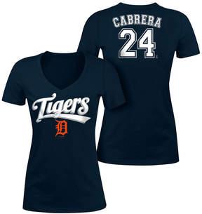 5th & Ocean Women's Miguel Cabrera Detroit Tigers Foil Player T-Shirt