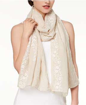 INC International Concepts I.n.c. Lovely Floral-Embroidered Scarf, Created for Macy's