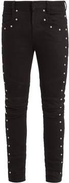 Balmain Stud-embellished biker jeans