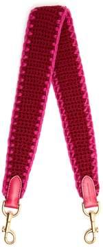 Anya Hindmarch Bicolour crochet knit strap