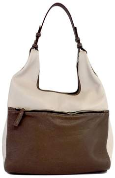 Jil Sander Taupe & Brown Leather Tote Bag