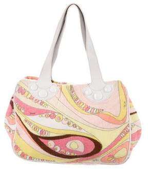 Emilio Pucci Printed Terrycloth Tote