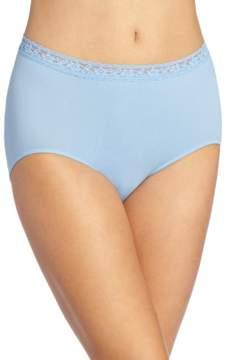 Bali Women's Comfort Revolution Seamless Lace Brief Panty 2649