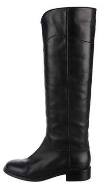 Chanel Knee-High CC Boots