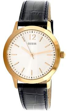 GUESS Men's U0922G7 Gold Leather Japanese Quartz Fashion Watch