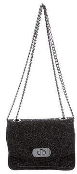 Zadig & Voltaire Leather-Trimmed Glitter Bag