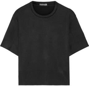 Bottega Veneta Stretch Wool And Silk-blend Sweater - Black