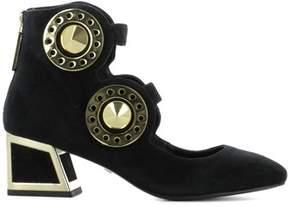 Kat Maconie Women's Black Suede Heels.
