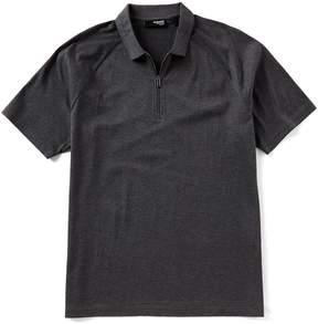 Murano Slim-Fit Solid Liquid Luxury Quarter-Zip Short-Sleeve Polo Shirt