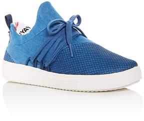 Steve Madden Girls' JLANCER Denim Lace Up Sneakers - Little Kid, Big Kid