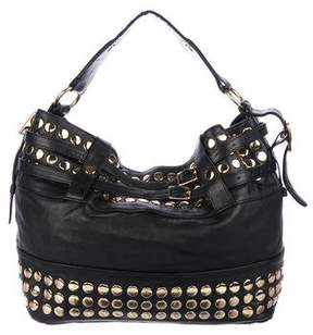 Rebecca Minkoff Studded Leather Hobo - BLACK - STYLE