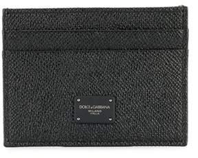 Dolce & Gabbana Dolce E Gabbana Men's Black Leather Card Holder.