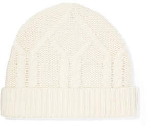 Frame Cable-knit Wool And Cashmere-blend Beanie - Off-white