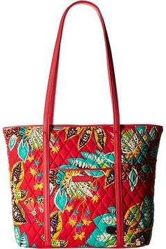 Vera Bradley Small Trimmed Vera Tote Handbags - CLASSIC BLACK - STYLE