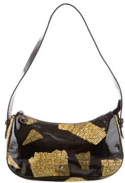 Longchamp Newspaper Print Shoulder Bag