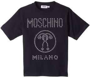 Moschino Kids Short Sleeve Stud Logo T-Shirt Boy's T Shirt