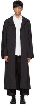 Issey Miyake Black Taffeta Wind Coat