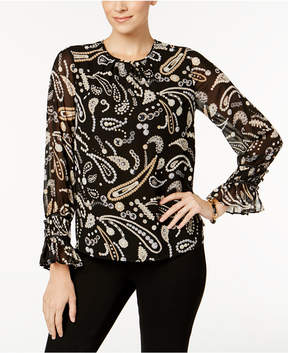 Charter Club Flare-Sleeve Blouse, Created for Macy's