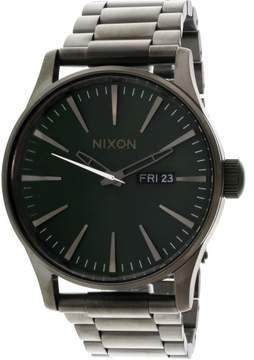 Nixon Men's Sentry Ss A3562458 Grey Metal Quartz Fashion Watch